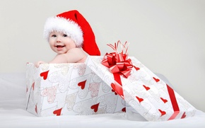 Picture child, Christmas, cap, winter, baby, child, baby