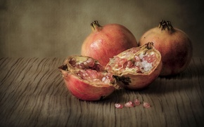 Picture food, treatment, fruit, still life, garnet, Wallpaper from lolita777, retro style