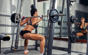 Picture legs, workout, fitness, squats weight