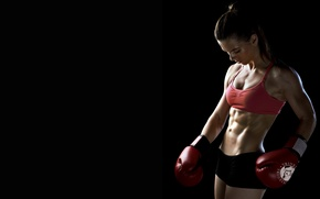 Picture woman, boxing, fitness, boxing gloves