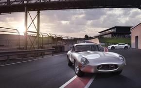 Picture Jaguar, Jaguar, E-Type, trek, revived, Lightweight, And-tayp