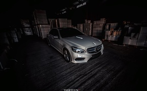 Picture machine, auto, lights, photographer, before, Mercedes, photography, photographer, THIRTEEN