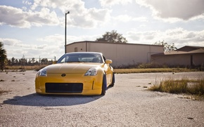 Picture yellow, nissan, 350z, style, stance, JDM