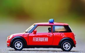 Wallpaper red, toy, mini Cooper, auto, model, model, car