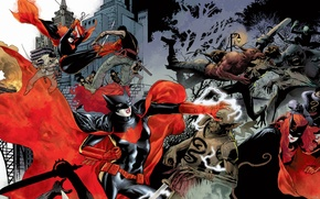 Picture red, comics, Batwoman