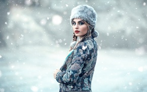 Picture snow, makeup, Alessandro Di Cicco, Cold Moscow