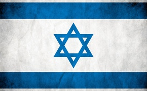 Picture white, blue, flag, Israel, the star of David