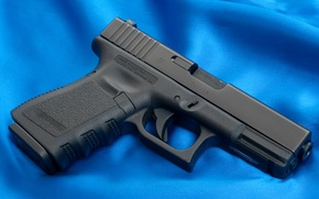 Picture Gun, Austria, Wallpaper, Trunk, Glock, Glock, Wallpapers, Canvas, Weapons, Blue