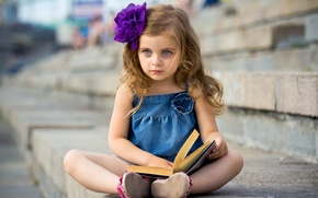 Picture mood, girl, book