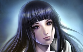 Picture look, girl, the dark background, naruto, Naruto, Hinata, Hyuuga, Hinata