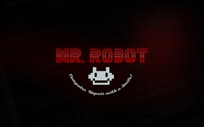 Picture logo, robot, series, code, mr.robot, fsociety