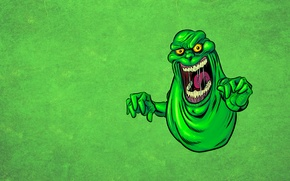 Wallpaper language, green, monster, monster, Ghostbusters, Ghostbusters, drool, Ghost, mucous, Slimer