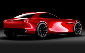 Picture red, Car, the dark background, Mazda RX-Vision