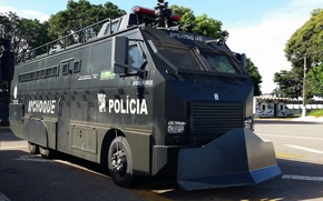 Picture truck, the front, police, armored, car