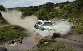 Picture Water, Dust, Squirt, Mini Cooper, Dakar, Dakar, Rally, MINI, Mini Cooper