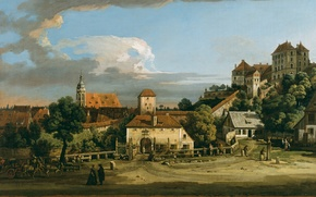 Picture picture, painting, painting, Bernardo Bellotto, The Obertor from the South, 1756