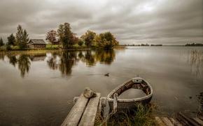 Picture boat, Kizhi, Karelia