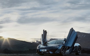 Picture auto, the sun, light, McLaren, door, supercar, the front, 570GT