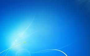 Picture line, blue, blue, Windows, seven