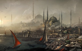 Picture the city, port, assassins creed, Revelations