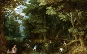 Picture picture, mythology, Jan Brueghel the elder, Latona and the Peasants