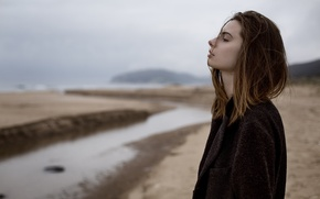 Picture beach, reverie, Girl, drama, Alexander, Come On