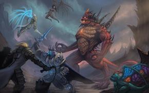 Wallpaper starcraft, diablo, warcraft, Demon Hunter, sarah kerrigan, Tyrael, Heroes of the Storm, Brightwing, Valla