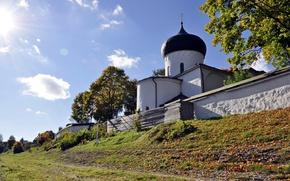 Picture autumn, Pskov, The Mirozhsky monastery