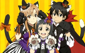 Picture game, halloween, hat, nothing, anime, cat, tail, gothic, pretty, bat, fang, asian, cute, manga, japanese, …