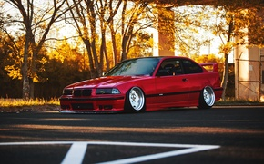 Picture auto, tuning, BMW, BMW, red, red, tuning, E36