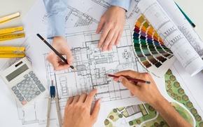 Picture colors, design, architecture, flat housing organization