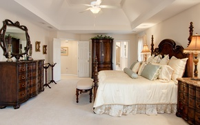 Picture design, room, bed, interior, mirror, the ceiling, bedroom