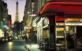 Picture Paris, the evening, France, france, street, paris wallpapers