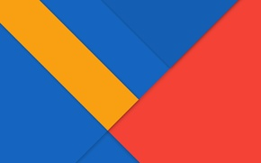 Picture line, blue, Android, Lollipop, red.yellow