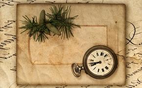 Picture retro, paper, watch, package, vintage, bumps, vintage