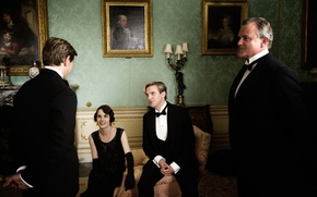 Picture interior, frame, the series, actors, drama, characters, Downton Abbey