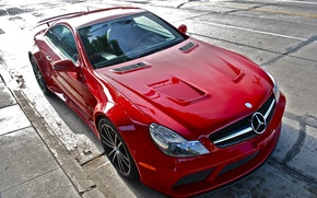 Picture red, tuning, Mercedes, Benz, sports car, Black Series, SL65