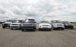 Picture the sky, asphalt, Range Rover, the airfield, land rover, Range Rover Sport, Discovery, mixed, Evoque, …