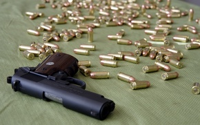Wallpaper gun, weapons, cartridges, 1911 Colt Officer's Pistol