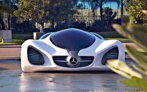 Picture white, Auto, Mercedes, 2010, Art, Biome
