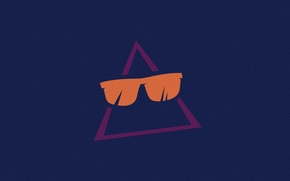 Picture glasses, Triangle, Ray-Ban, triangle glasses, shift reset, sunglasses Ray-Ban