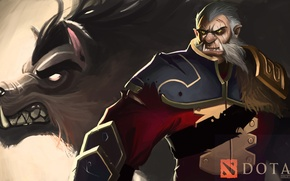 Picture game, game, DotA 2, Defense of the Ancients, Dota 2, Lycan, Banehallow, Warrior, Wolf art
