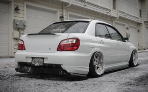 Picture Subaru, Impreza, Ass, White, STI, Snow, White, Tuning, JDM