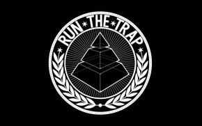 Picture Minimalism, White, Pyramid, Wallpaper, Black, Logo, Black, White, Wallpapers, Minimalism, Music Genre, Trap, Logotype, Pyramid, …
