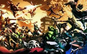 Picture battle, heroes, comic, Marvel vs. Capcom 3