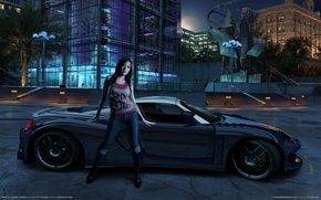 Wallpaper Carbon, the game, Need for Speed, car, girl