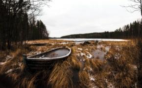 Picture nature, lake, boat
