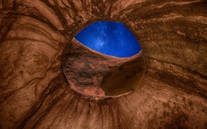 Picture space, universe, rock, sky, stargate, stars, pathway, window, eye, galaxy, milky way, Utah, cave, Monument …