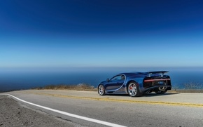 Wallpaper road, car, machine, the sky, Bugatti, road, sky, Chiron