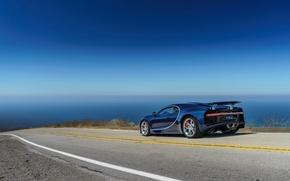 Wallpaper road, Bugatti, Chiron, car, machine, the sky, road, sky